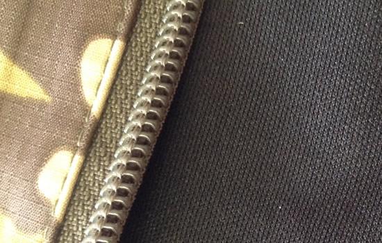 Close up of Highlander's Ab-Tex material