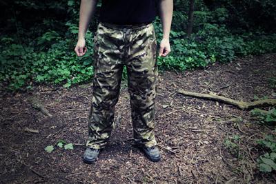 Waterproof breathable trousers