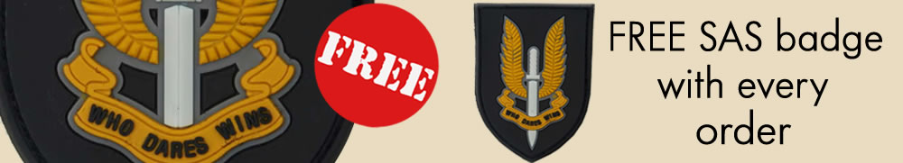 FREE SAS Badge with Every Order