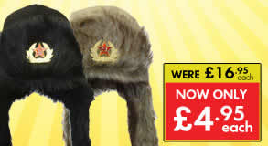 Fur and Canvas Cossack Hat Sale