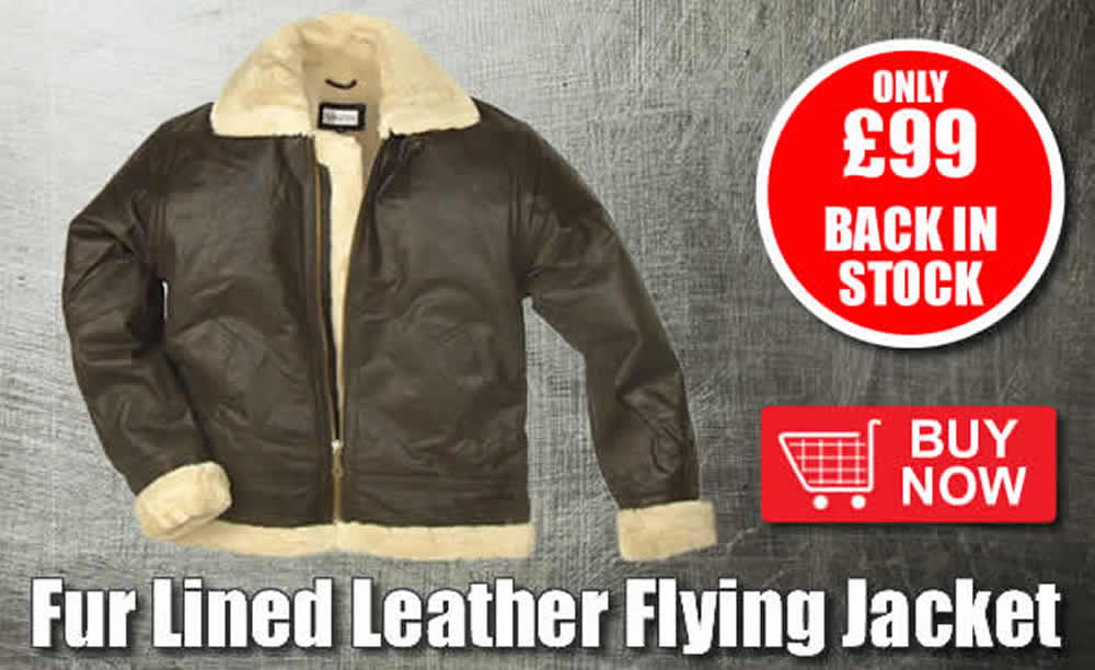 Fur Lined Leather Flying Jackets Back In Stocck