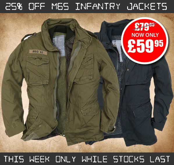 25% Off M65 Infantry Jackets