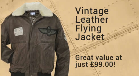 Vintage Style Leather Flying Jacket