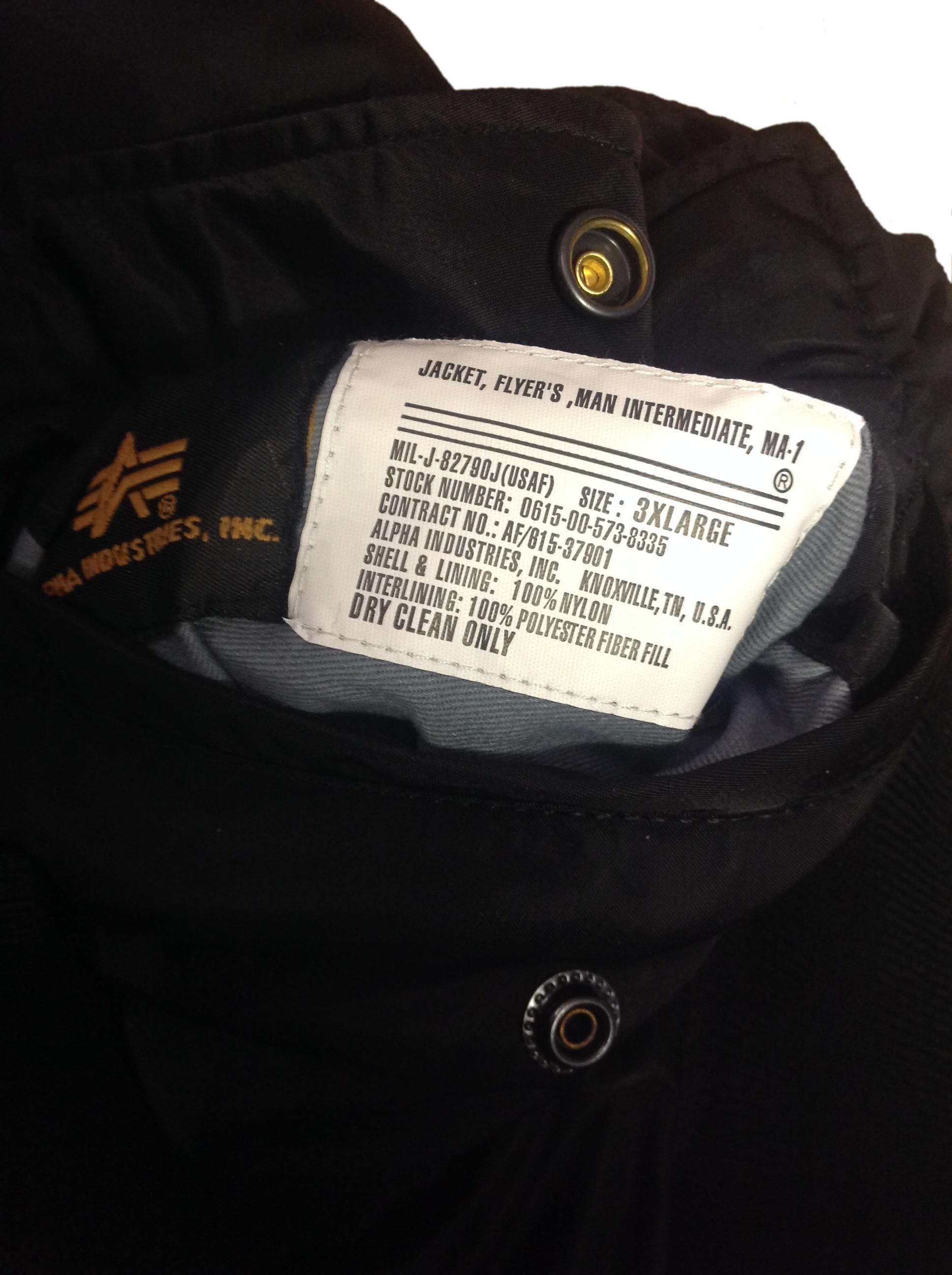 a8b3a413a6f Alpha Industries MA1 Flight Jacket