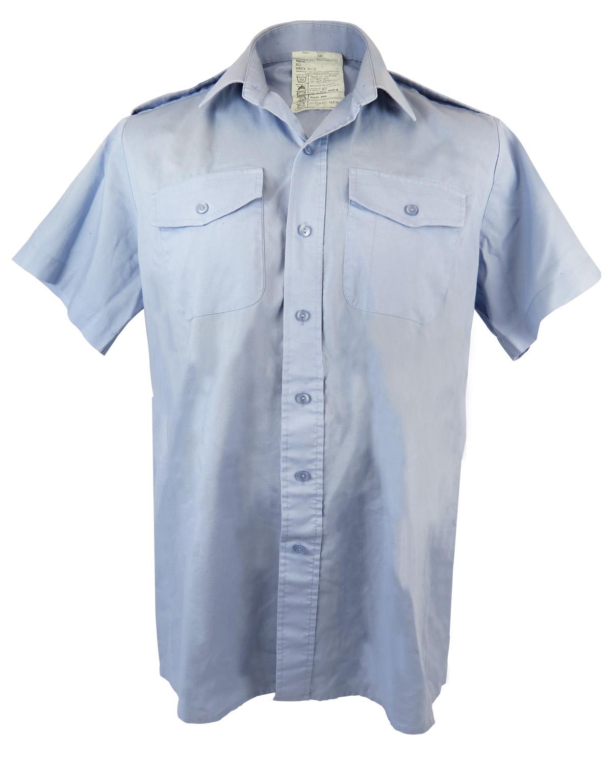 Mens raf short sleeved light blue shirt for Light blue short sleeve shirt mens