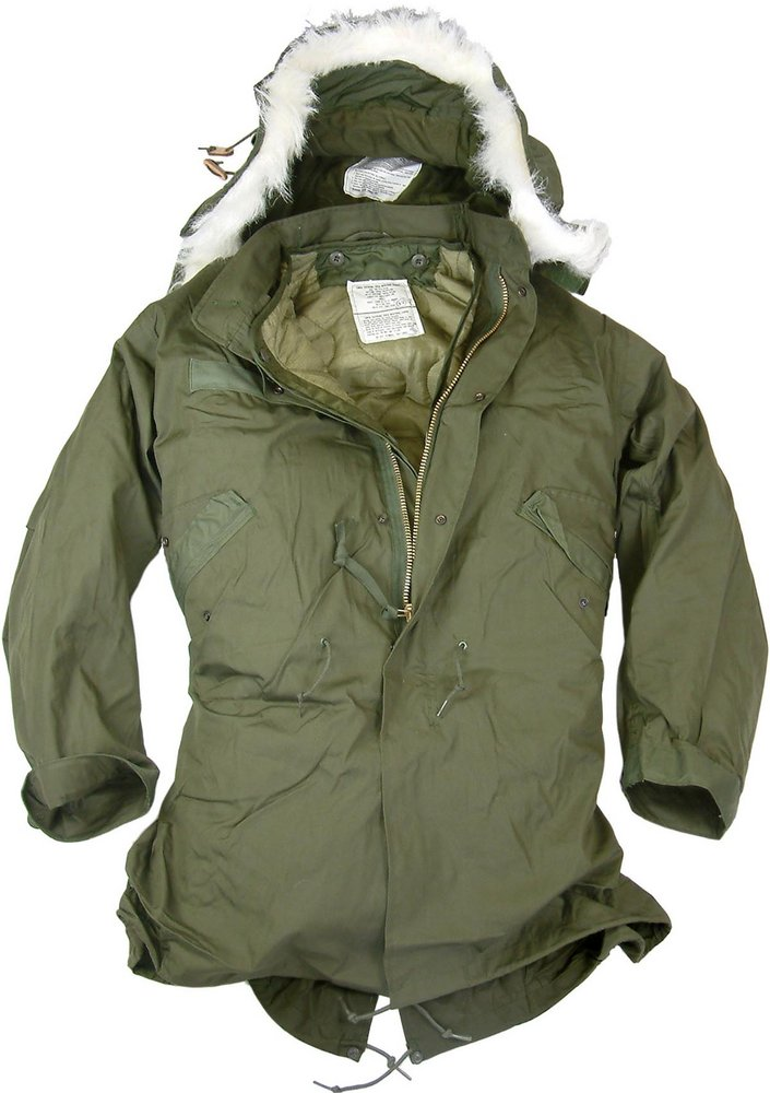 New US Fishtail Parka With Hood by US Army