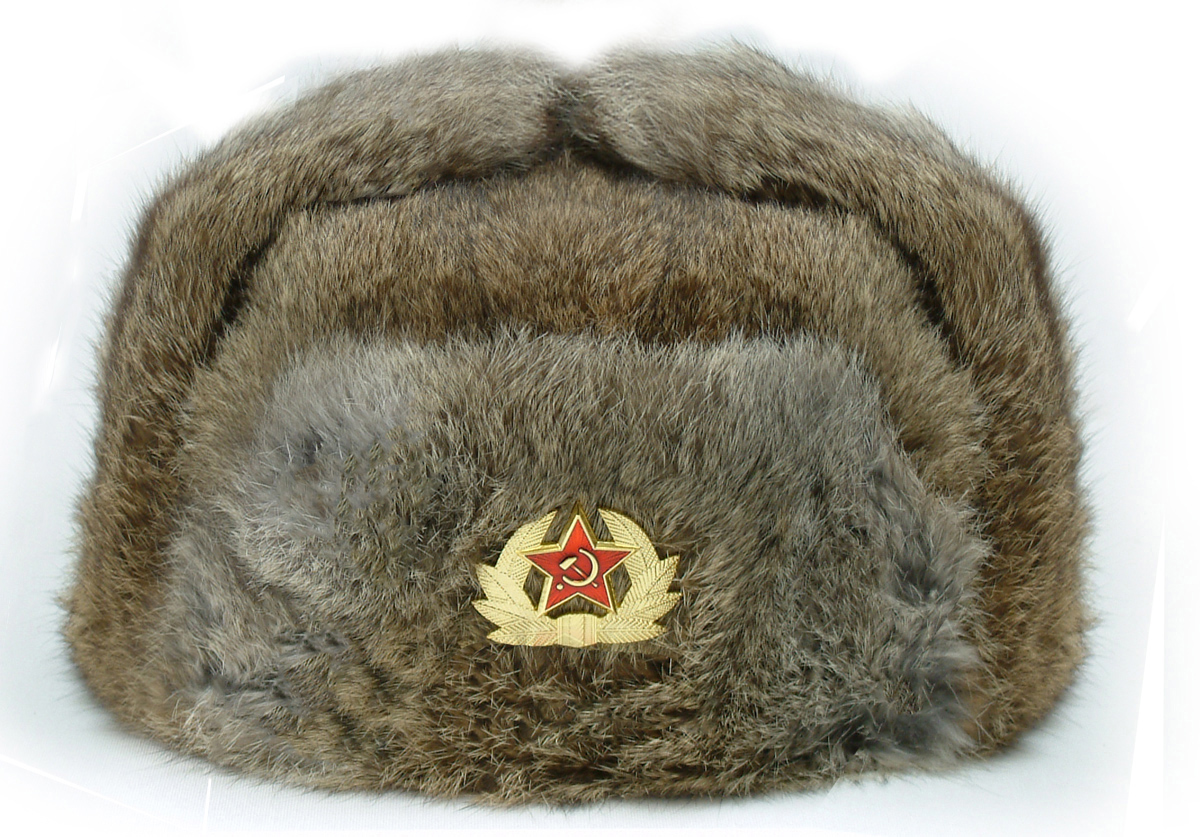Rabbit Fur Cossack Hat (Ushanka) 70616c12462