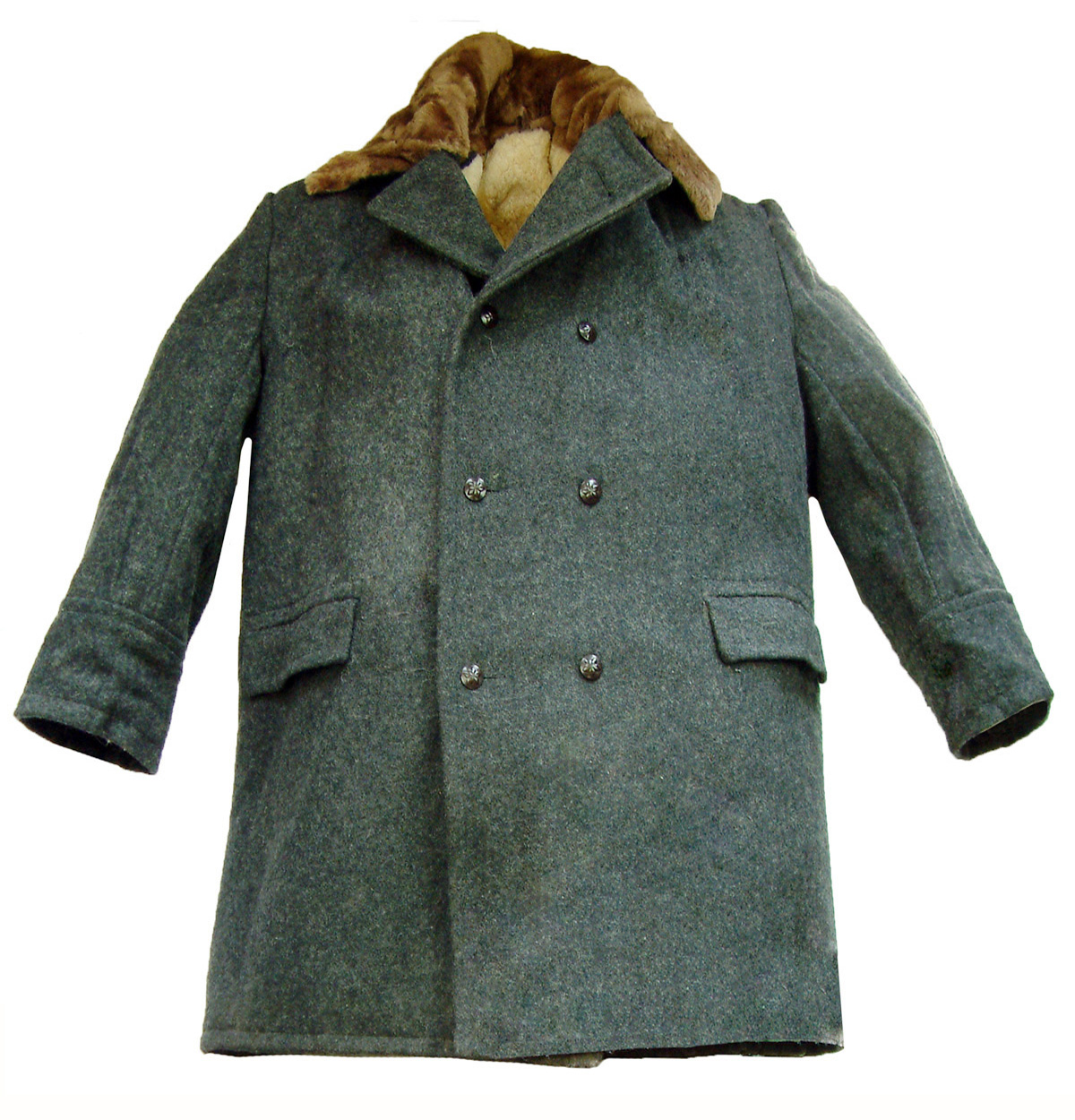Soviet Issue Sheepskin Lined Great Coat by Russian Army