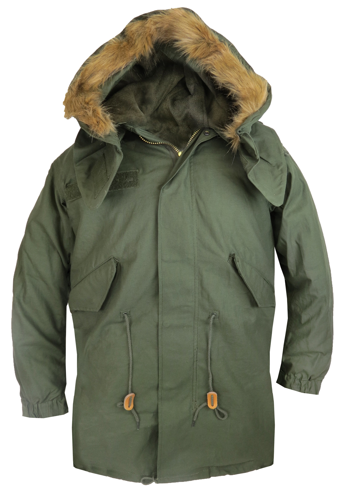 The fishtail parka was first used by the United States Army in during the Korean War. Following the end of the Second World War the US army recognized the need for a new cold weather combat system, resulting in four main styles of fishtail parka: the EX, M, M and the M