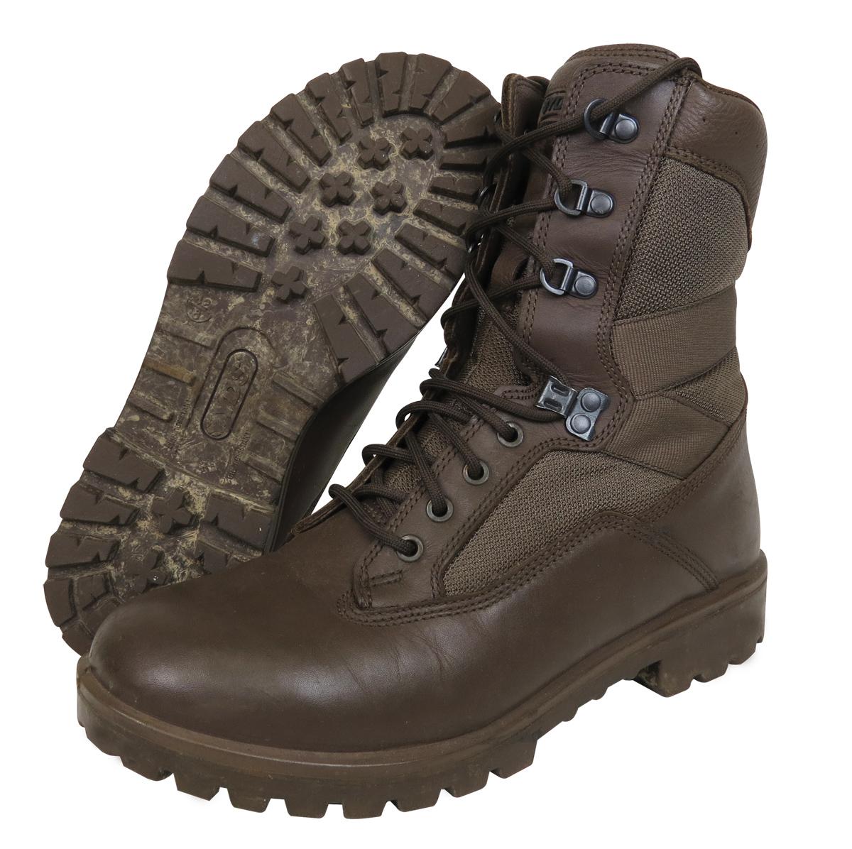 Ex Army Brown Patrol Boots Mens Yds Kestrel By British