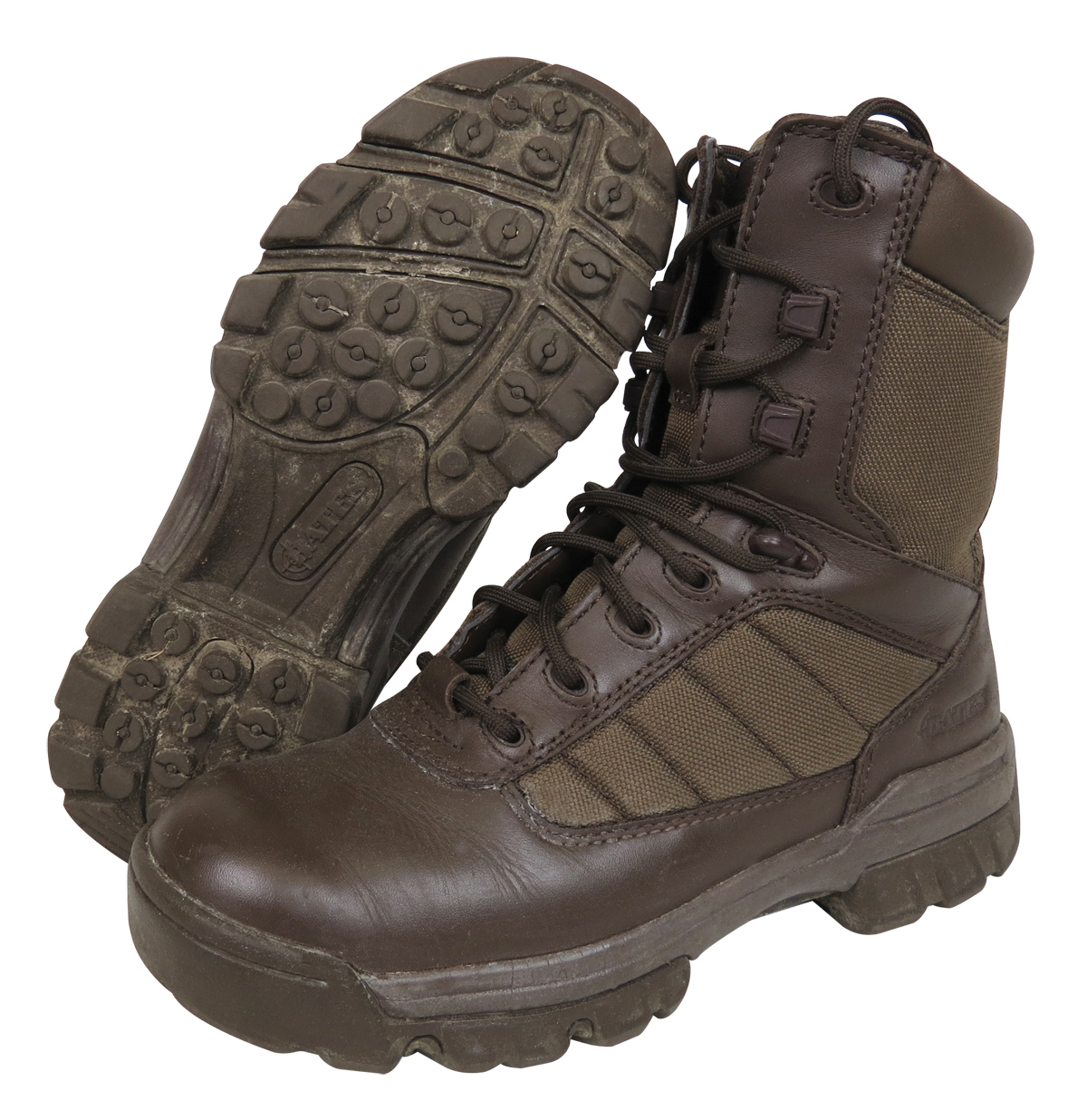 Ex Army Brown Combat Boots Mens Bates Ultra Light