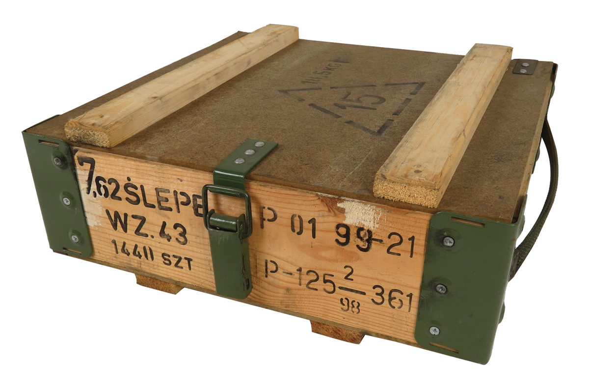wooden ak ammo box by russian army