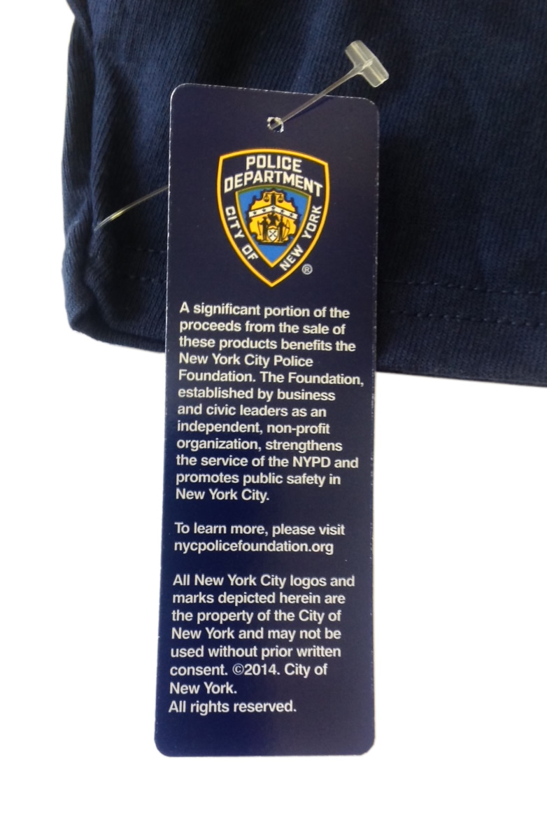 UK Seller Genuine New York Police Officially Licensed Embroidered NYPD T-Shirt
