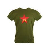 Red Star with Hammer and Sickle T-shirt