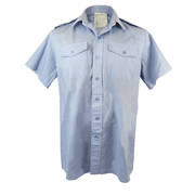 Mens RAF Short Sleeved Light Blue Shirt