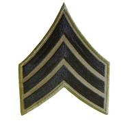 US Subdued Sergeant Cloth Badge