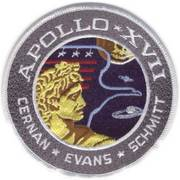 NASA Apollo XVII Flight Cloth Badge