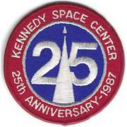 Kennedy Space Center 25th Anniversary Cloth Badge