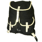 Indian Cotton/Leather Rucksack