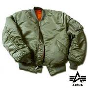 Alpha Industries MA1 Nylon Flight Jacket - Larger Sizes