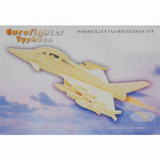 Eurofighter 3D  Wooden Construction Puzzle