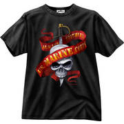 US Marines Skull/Ribbon T-Shirt