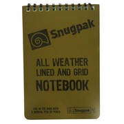 Snugpak Waterproof Lined and Grid Notebook