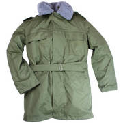 Czech Army Fur Lined Parka with Hood