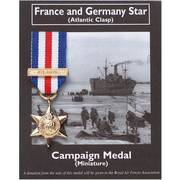 Miniature Medal - France and Germany Star