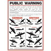 WW2 Aircraft Identification Poster