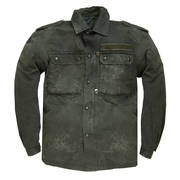 German Camo Shirt Dyed Black