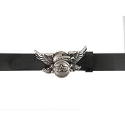 Alpha Industries Leather Belt with Eagle Buckle