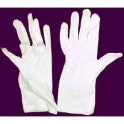British White Cotton Gloves