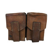 Vintage Leather Double Pouch
