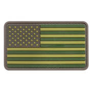 PVC Badge - USA Flag Subdued