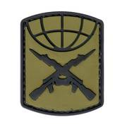 PVC Badge - Crossed Guns