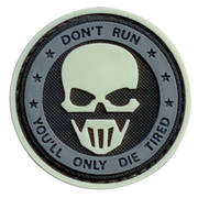 PVC Badge - Only Die Tired Skull