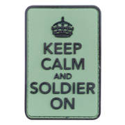 PVC Badge - Keep Calm and Soldier On