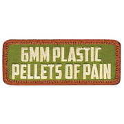 6mm Plastic Pellets of Pain Cloth Badge