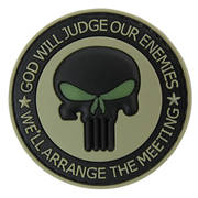 PVC Badge - God Will Judge