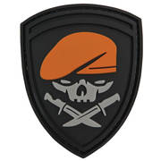 PVC Badge - Beret Skull and Knives