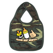 Choose Your Weapon Baby Bib