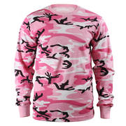 Kids Long Sleeve Pink Camo Shirt