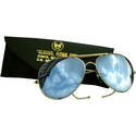 Aviator Style Mirrored Sunglasses