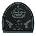 PVC Badge - Keep Calm and Reload