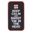 PVC Badge - Keep Calm and Shoot