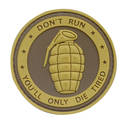 PVC Badge - Only Die Tired Grenade