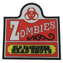 PVC Badge - Zombies Old Fashioned Head Shots