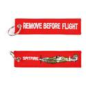 Spitfire Remove Before Flight Key Ring
