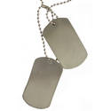 Set of Blank Dog Tags